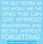 Giving-Forgetting