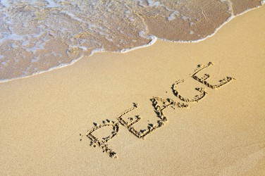 Peace in sand
