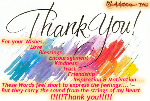 Thank-You from my heart